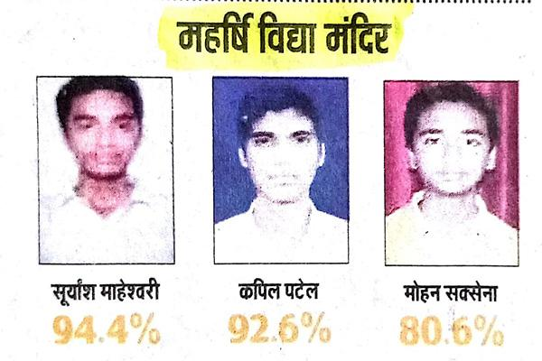 MVM Bareilly Topper's Students.